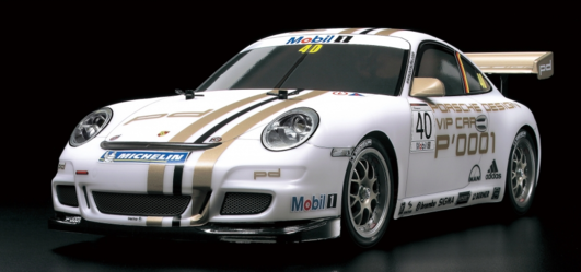 TAMIYA Porsche 911 GT3 Cup08 Elektro Brushed On Road 4WD 1:10 Kit TT-01E