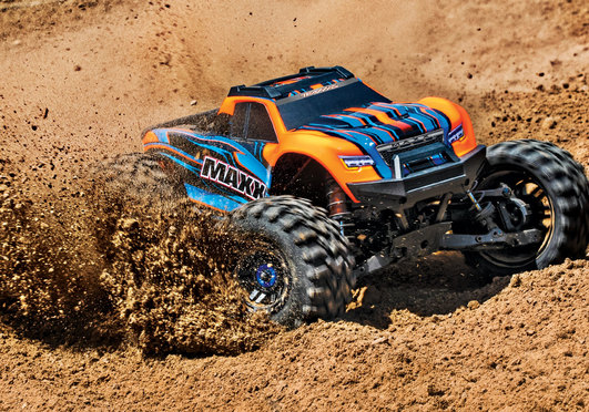 TRAXXAS MAXX Elektro Brushless Monster Truck 4WD 1:10 RTR orange Combo