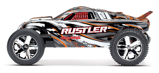 TRAXXAS Rustler orange RTR ohne Akku/Lader 1/10 2WD Monster Truck Brushed