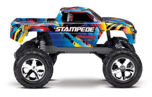 TRAXXAS Stampede RoknRoll RTR ohne Akku/Lader 1/10 2WD Monster Truck Brushed