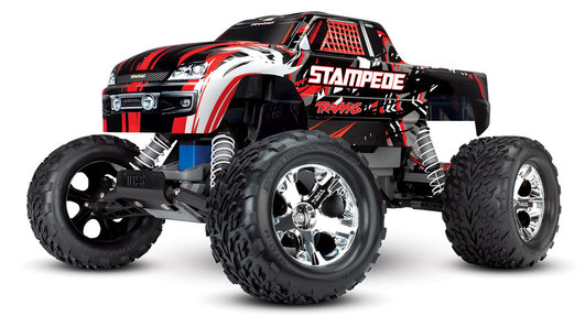 TRAXXAS Stampede rot RTR ohne Akku/Lader 1/10 2WD Monster Truck Brushed