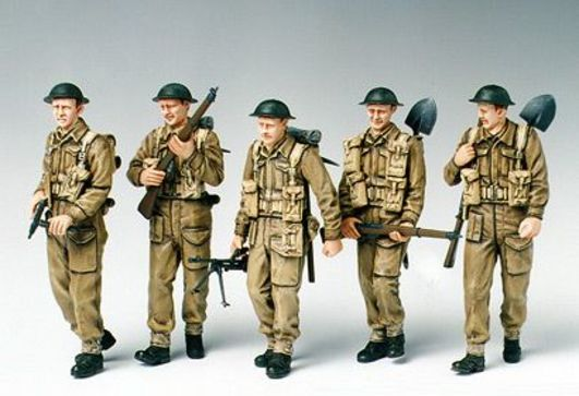 Tamiya 1:35 WWII Fig-Set Brit.Infant.Patrol.(5)