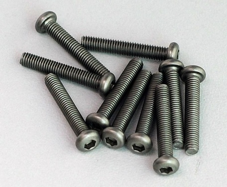 Titanium Hex Socket Screws M3x18mm (10)
