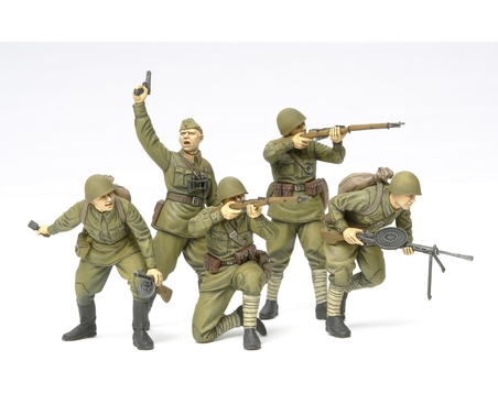 WWII Fig.-Set Rus. Sturmtruppen (5) 1:35