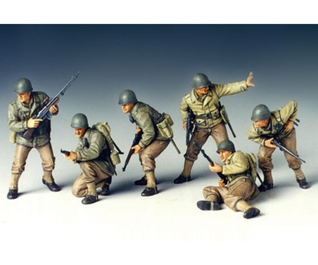 WWII Fig.-Set US Infant. Angriff(6) 1:35