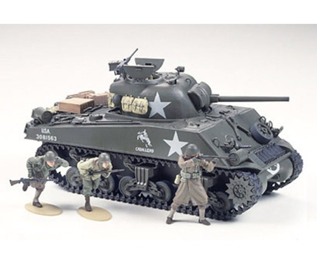 WWII US Sherman M4A3 75 mm Spä.(9) 1:35