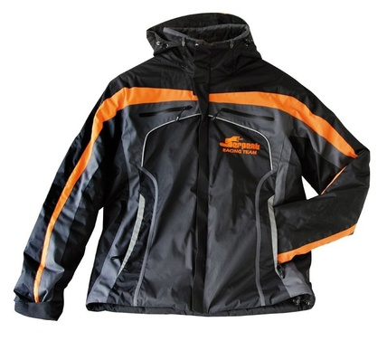 Winter-Jacke Serpent schwarz-orange hooded (L)