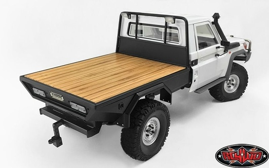 Wood Flatbed for RC4WD TF2 LWB Toyota LC70