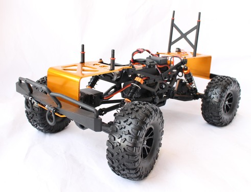df models DF-4J XXL Elektro Brushed Crawler 4WD 1:10 RTR orange