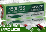 GreenLine 4500 mAh 3S 25C (4mm Gold) LiPo Akku