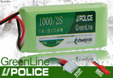 LiPo Pack 1000 mAh 2S (7,4V) 25C LiPolice GreenLine Light Edition (JST + EHR)