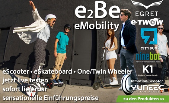eMobility eScooter One Wheeler Twin Wheeler Ninebot Segway eSkateboards