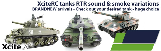 XCite RC tanks